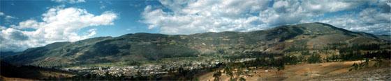 Celendín, vista panorámica . Fotos Jorge A. Chavez Silva. Montaje Rafa